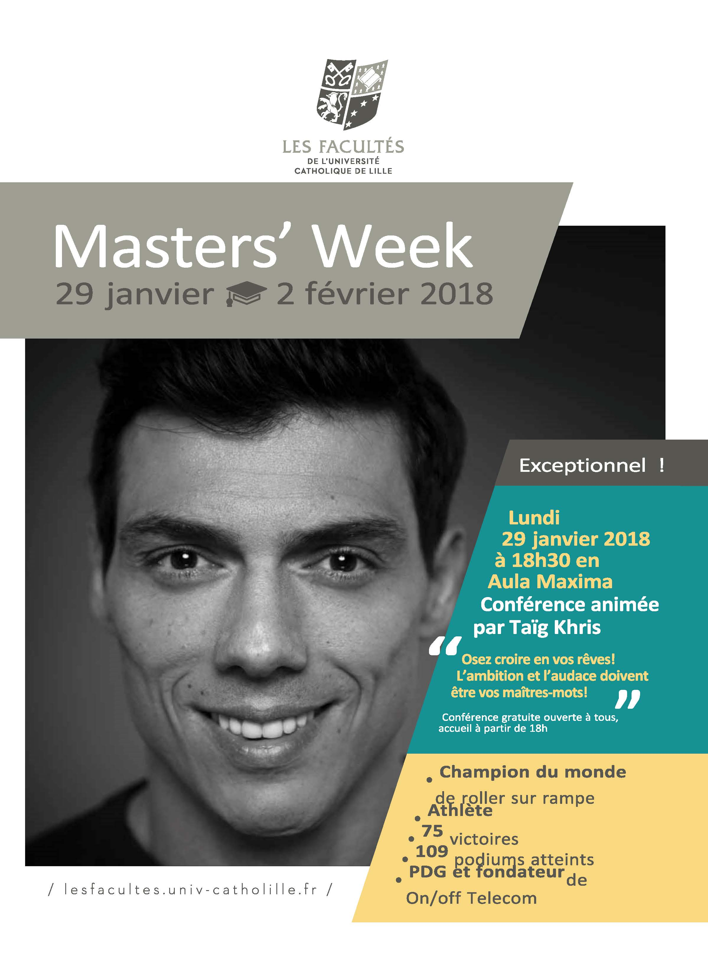 Facs Masters Week affiche event