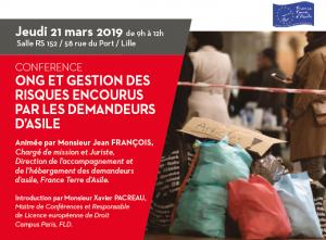 Bannière de la conférence sur le Droit d'Asile - 2019