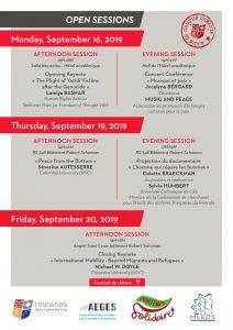 programme sessions ouvertes de la masterclass
