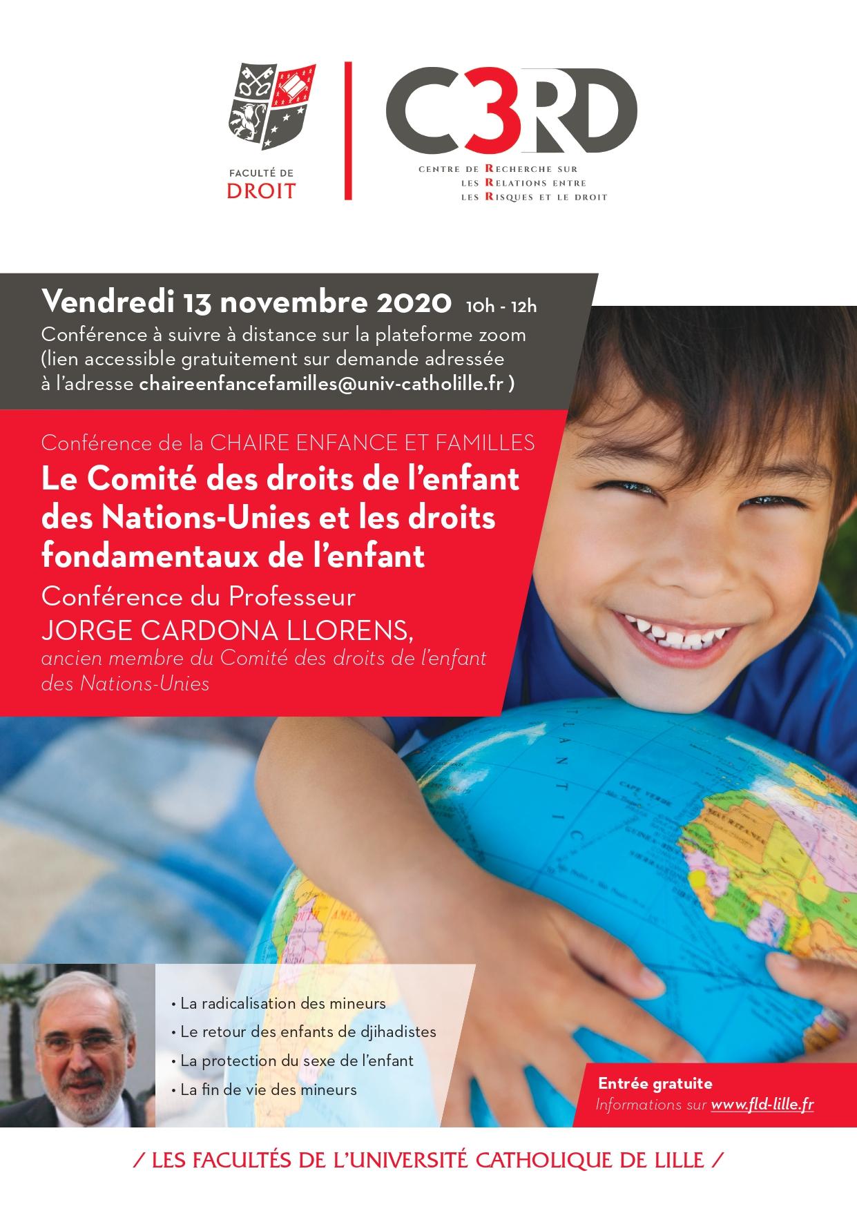 affiche de la conférence du Pr Cardona